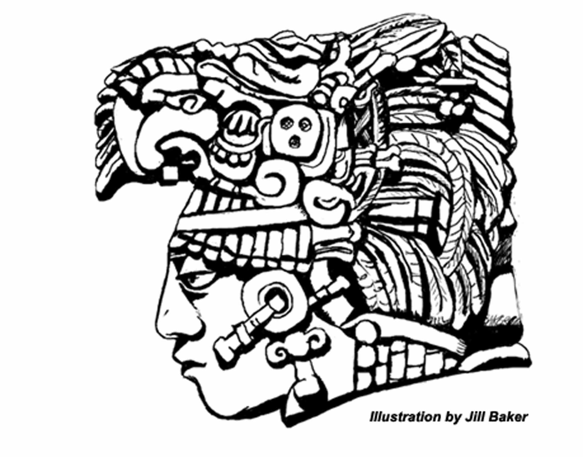 Mayan Calendar Drawing Easy : Mayan art on pinterest maya palenque and tikal